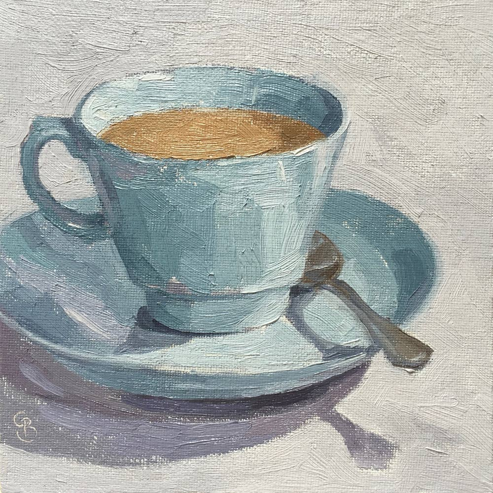 "A Cup of Tea 6x6"" AVAILABLE"