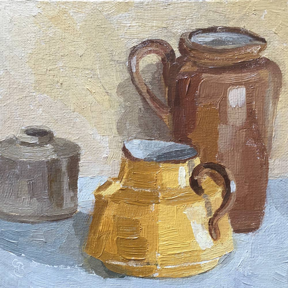Earthenware Jugs 6x6""
