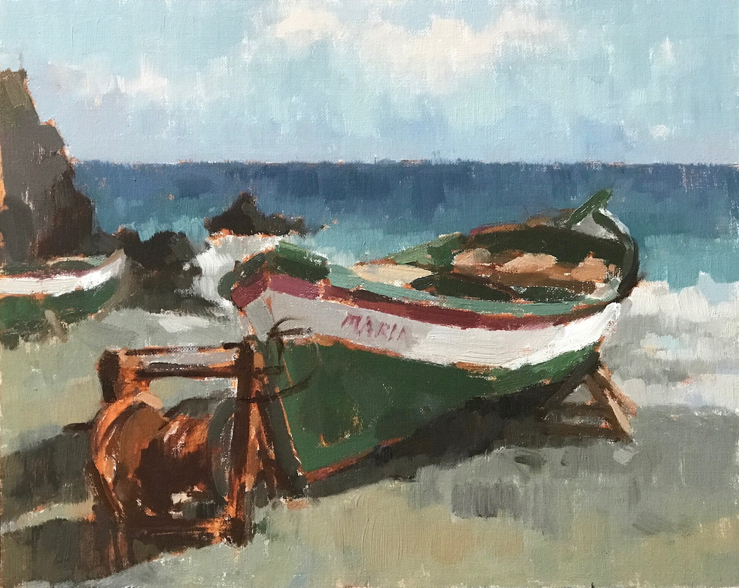Old Fishing Boat 24x30cm AVAILABLE