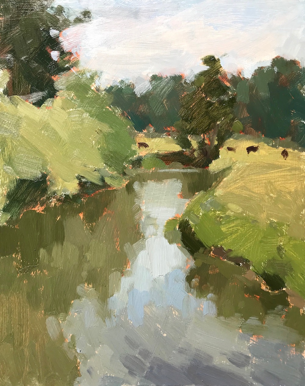The River Wey Tilford 24x30cm AVAILABLE
