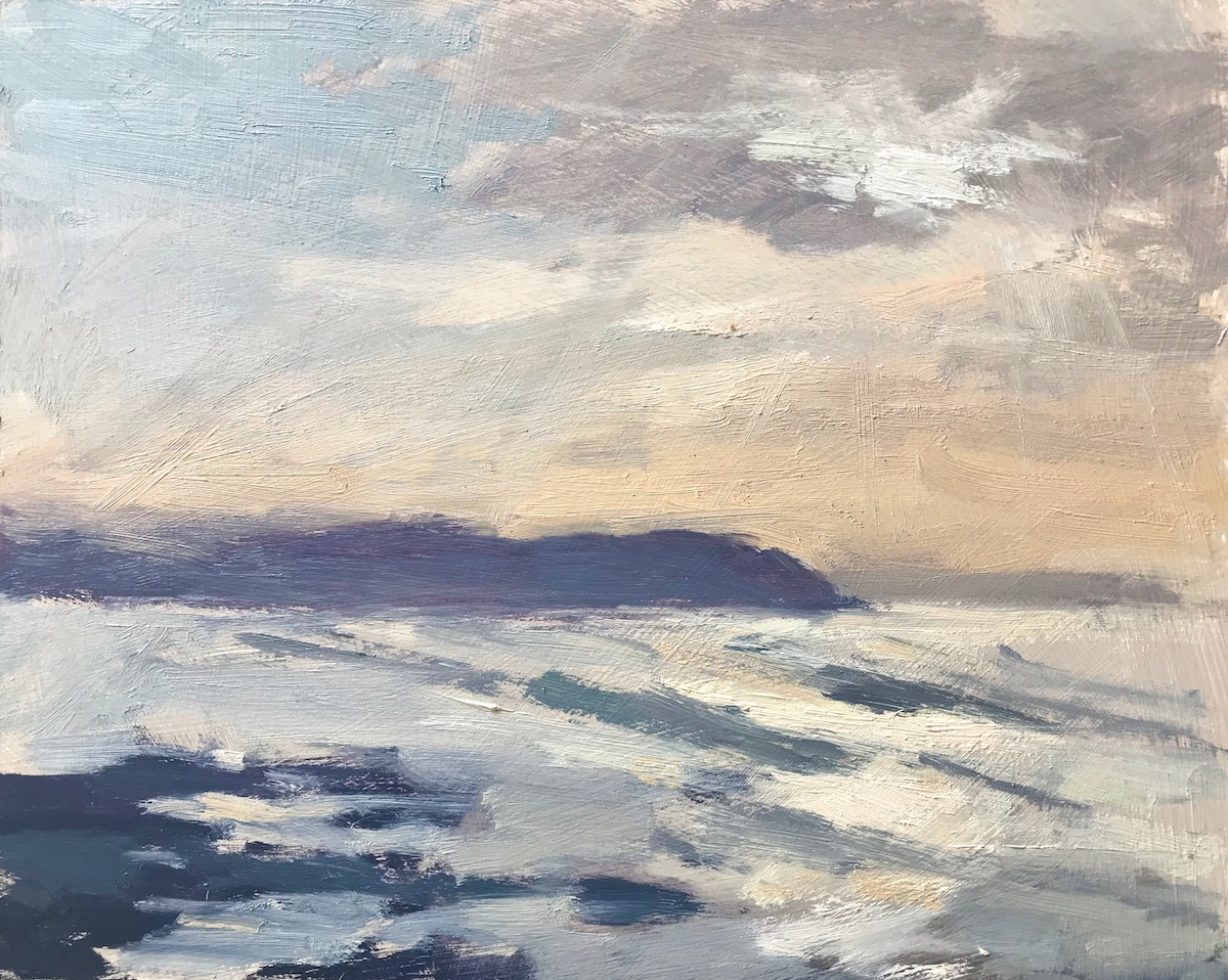 "Light Over Baggy Point, Devon 8x10"" AVAILABLE through Mall Galleries London (Contact Clare)"