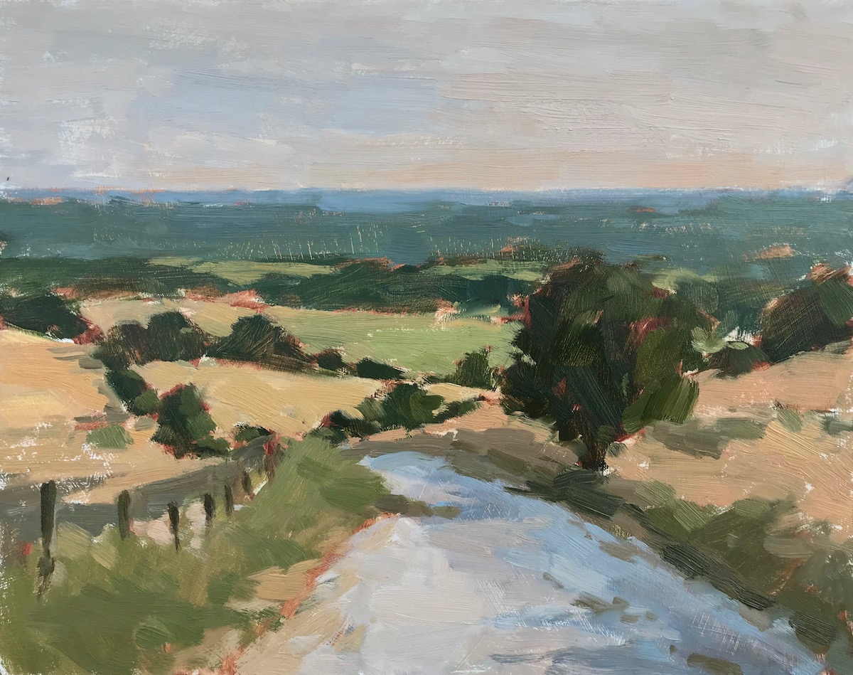 "Evening Light, The South Downs 11x14"" AVAILABLE"