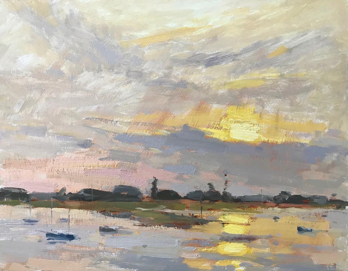 """Sunset, Bosham 11x14"""""""