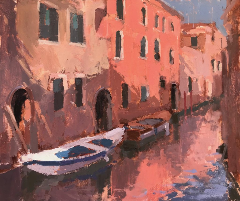 """Afternoon Reflections, Venice 10x12"""""""