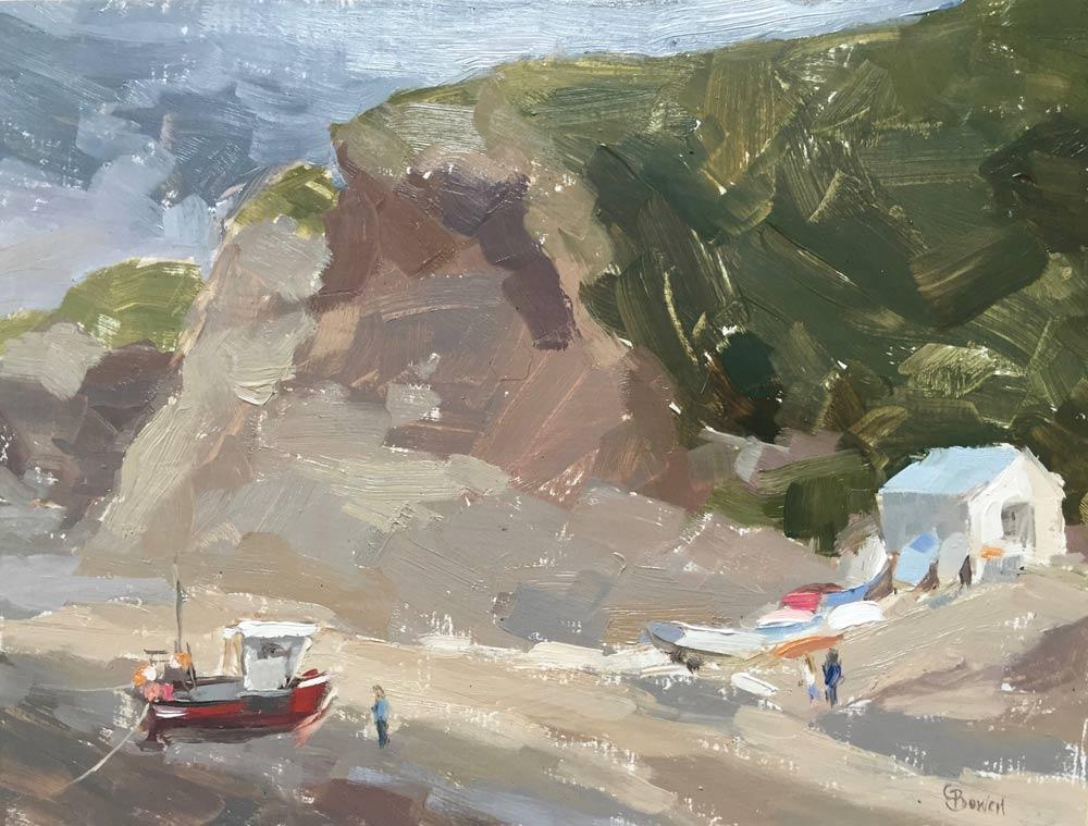 """Staithes Beach 7x9.5"""""""