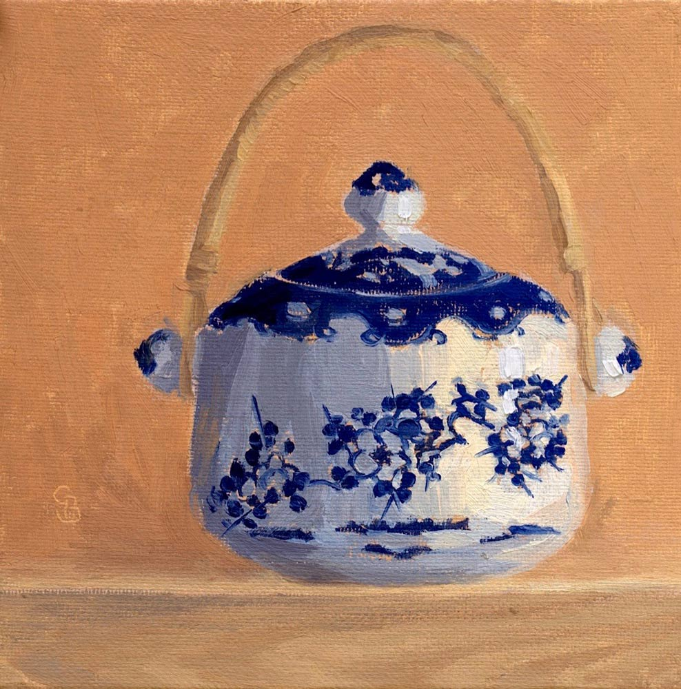 "Sugar Pot 6x6"" SOLD"