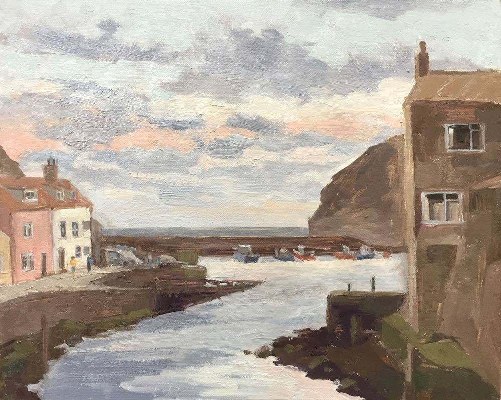 Sunrise The Beck Staithes 9.5x12""