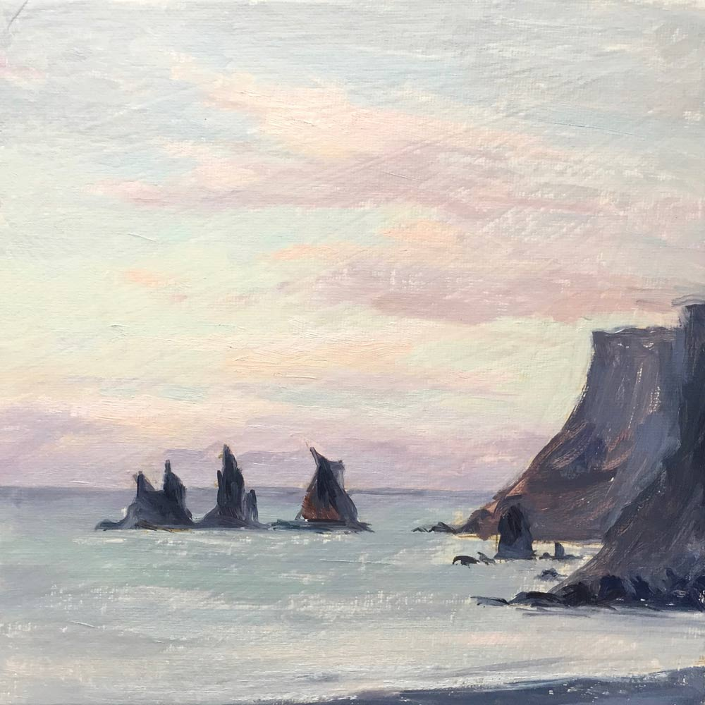 Sunset Vik, Iceland 8x8""