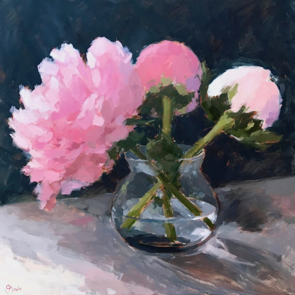 Peonies 60x60cm AVAILABLE