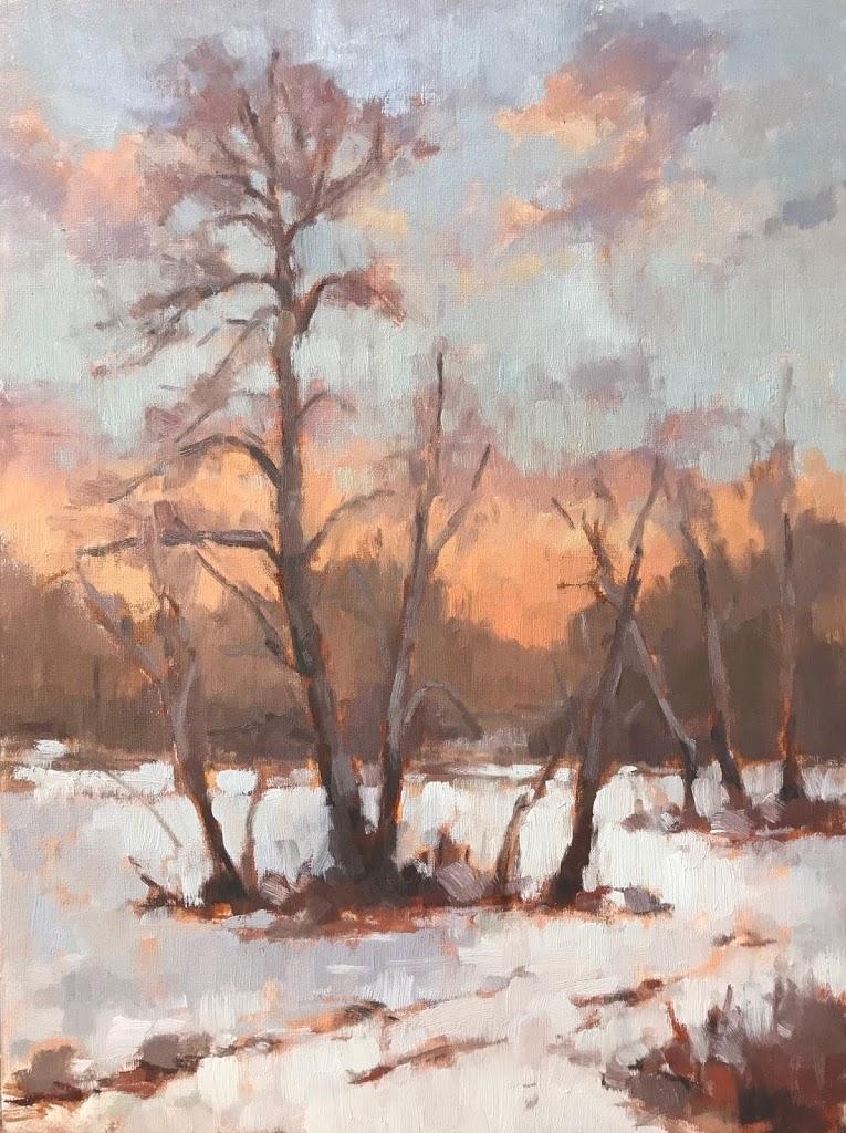 #444 'Trees in Snow' 30x40cm