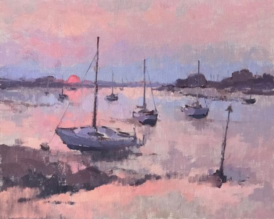 'Sunrise, Langstone Harbour'