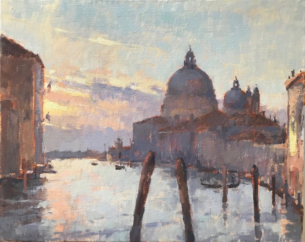 #445 'First Light Venice' 40x50cm