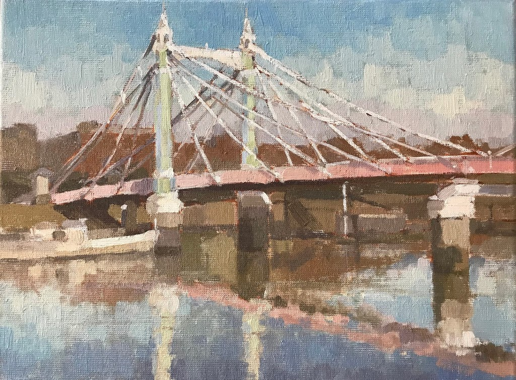 #446 'Midday Light, Albert Bridge' 30x40cm