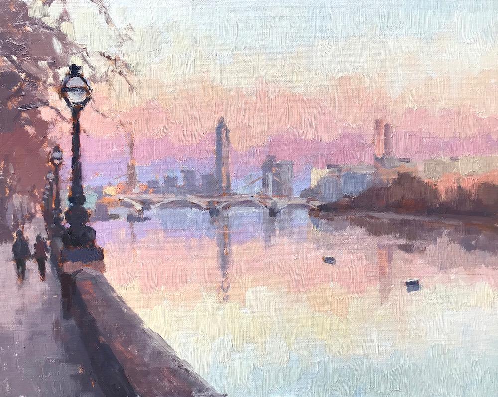 Sunset Walk, Chelsea Embankment
