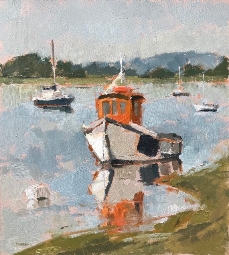 #477 'Boats at Dell Quay'