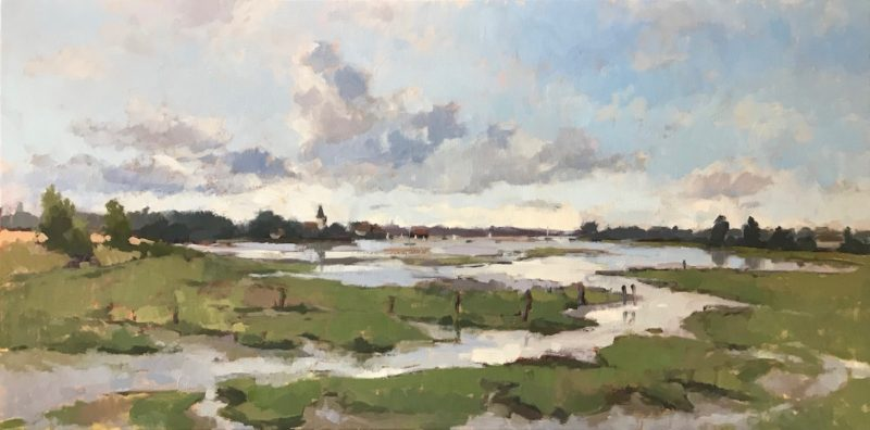 #479 'Bosham Creek & Artist's Life En Plein Air