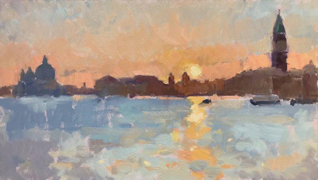 'Sunset, Over Venice Skyline'