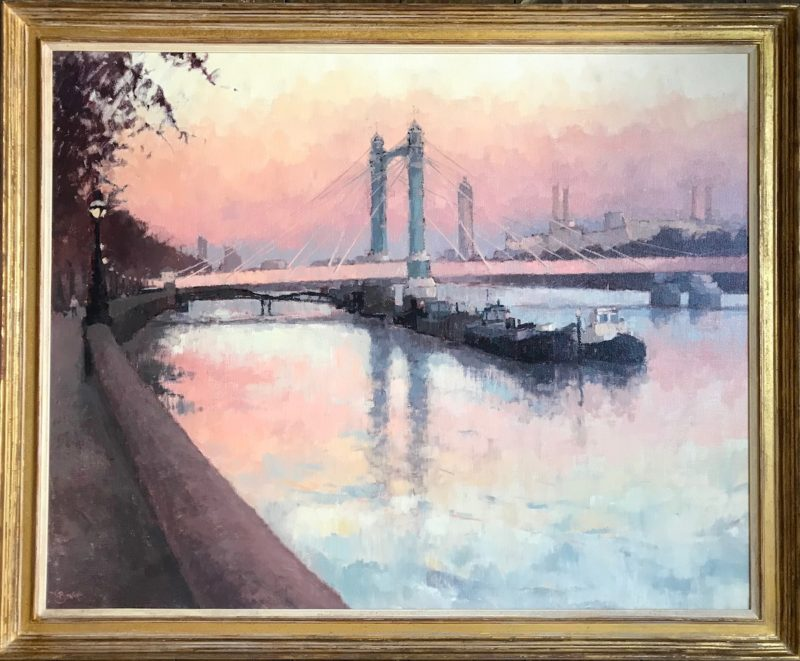 #520 Sunset, Albert Bridge