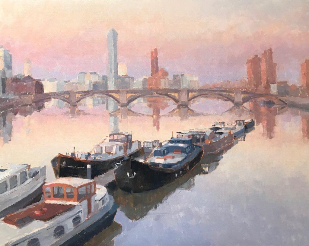 View to Battersea Bridge
