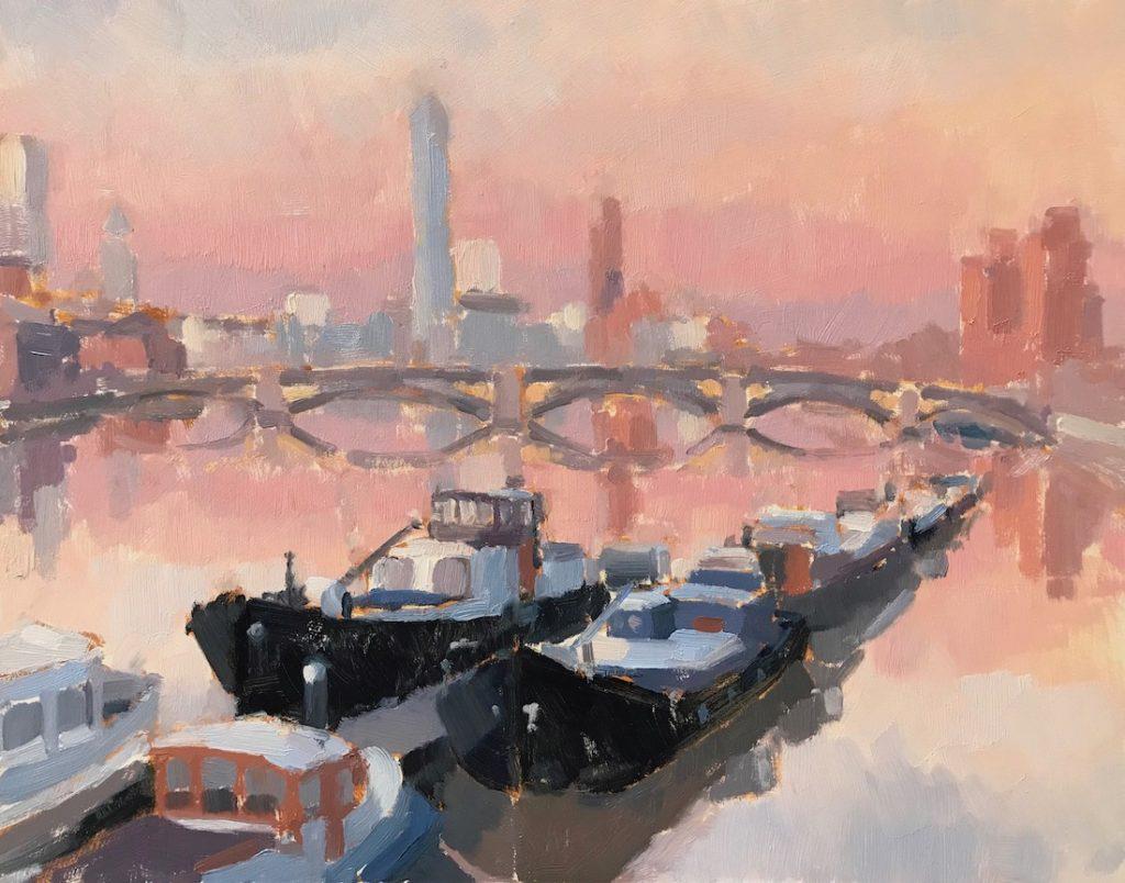 View To Battersea Bridge Sketch