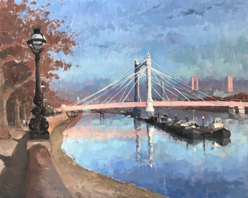 #530 'Late Afternoon, Albert Bridge'