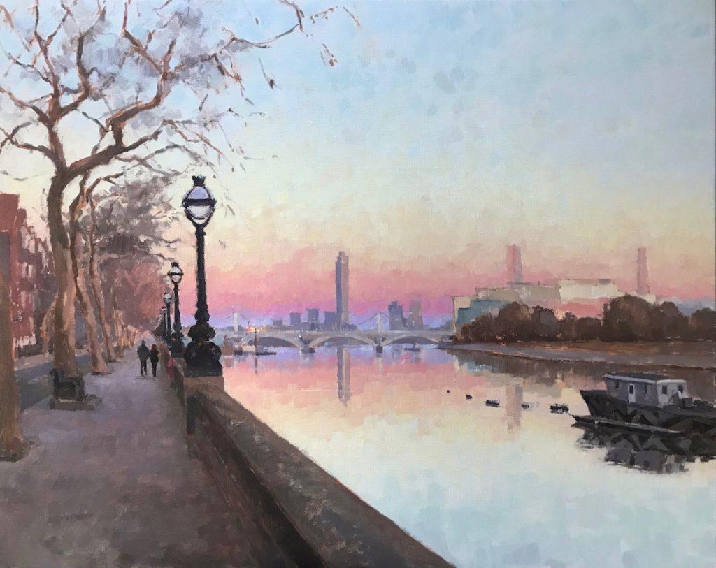 Sunset Walk, Chelsea Bridge