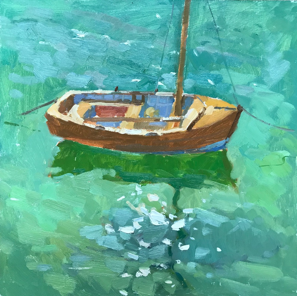 Old Boat & Green Seas