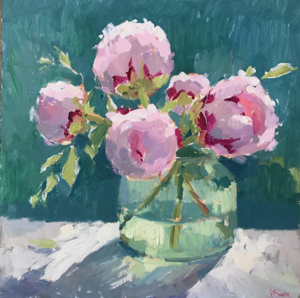 Peonies in Jade
