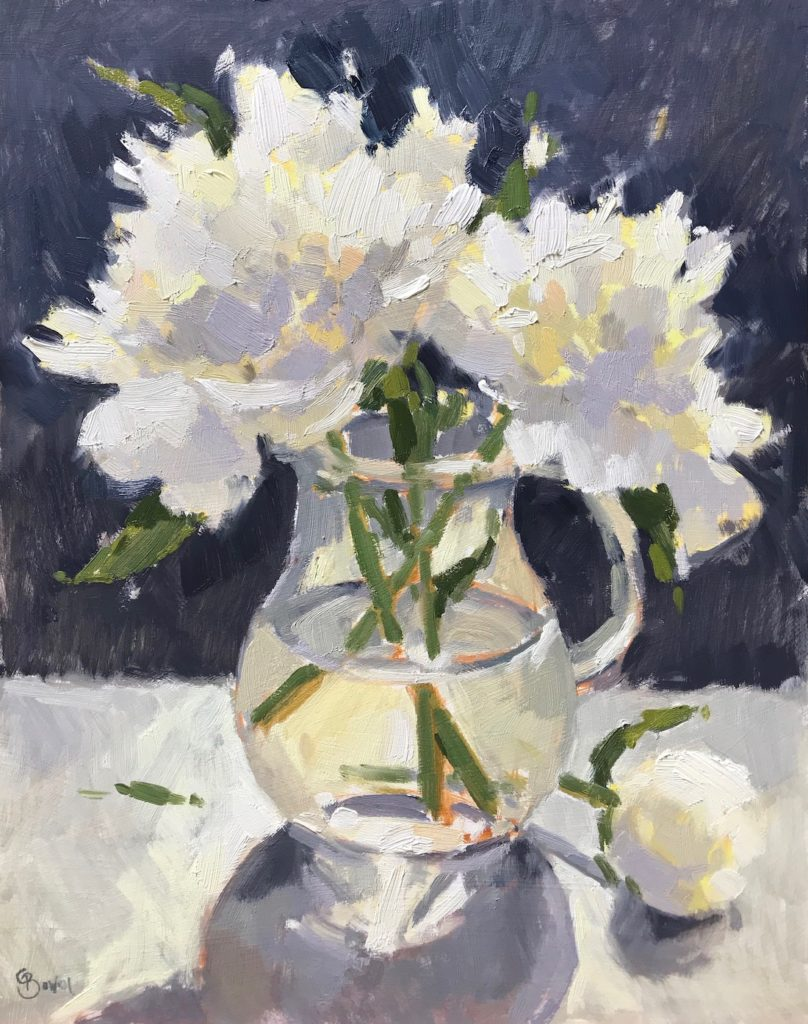 White Peonies in Jug