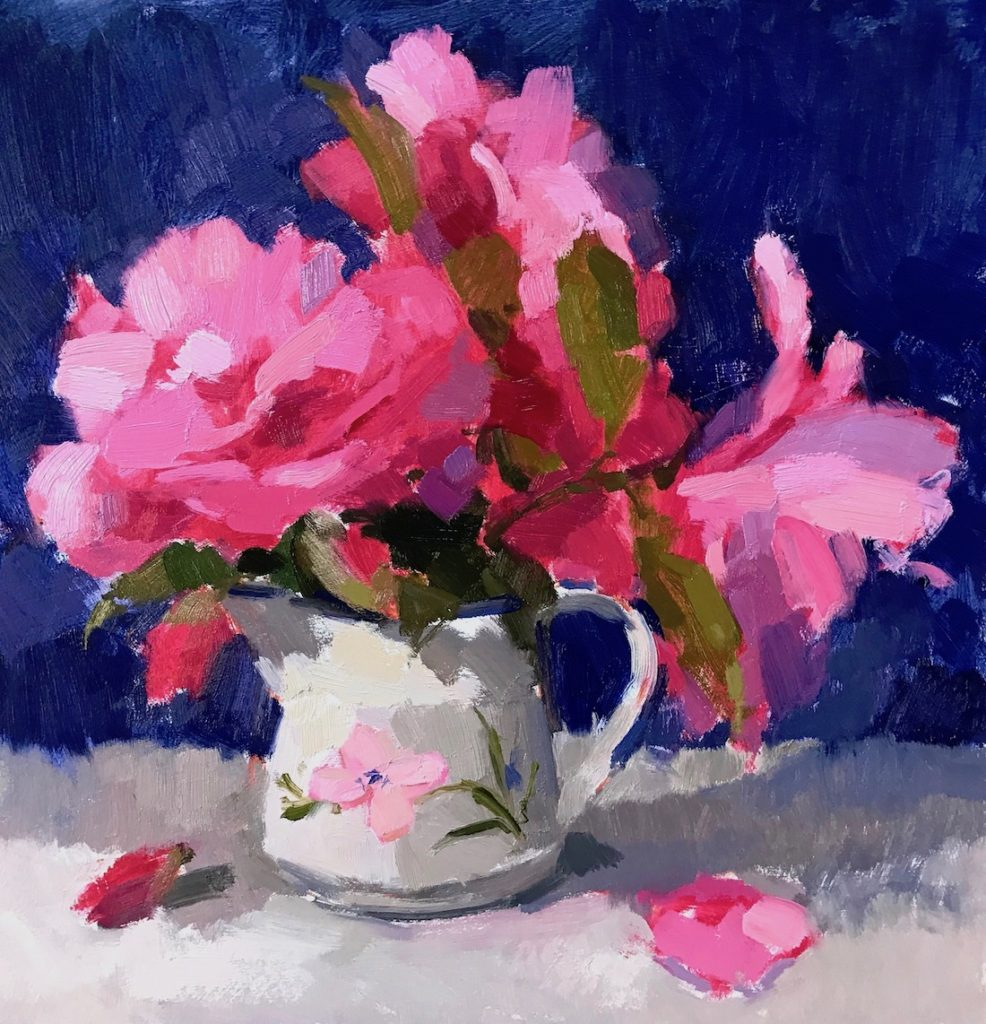 Camellias in China Jug