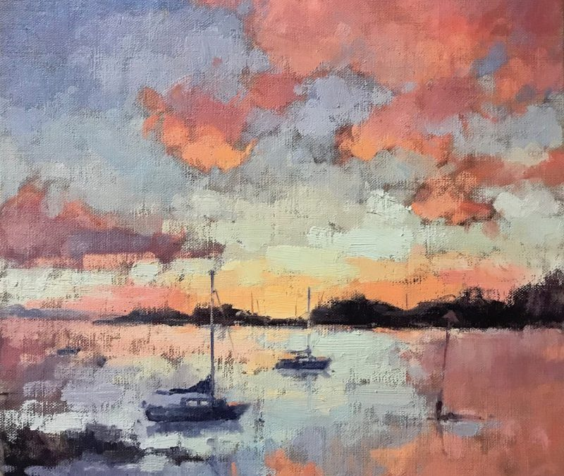 #526 Langstone Harbour, Sunrise – Happy New Year!